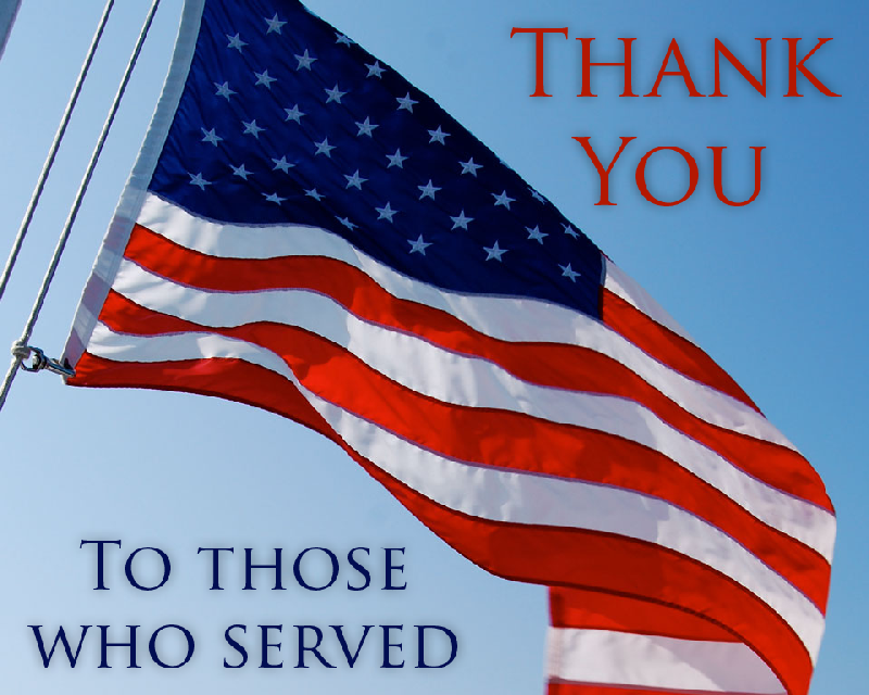 Thank you to those who served!