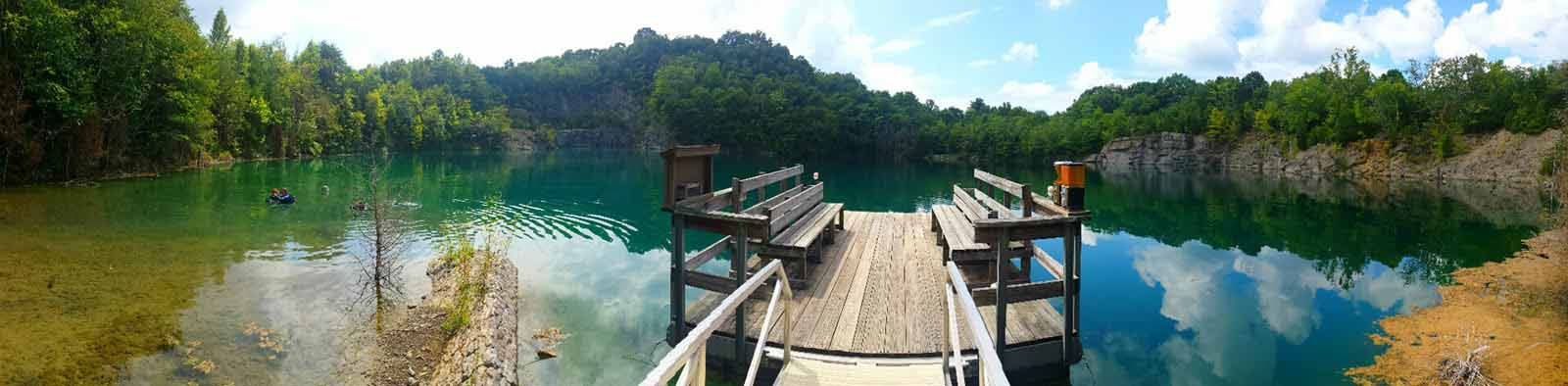 We are a scuba diving resort in Athens, TN that is based around a crystal clear, ten acre quarry lake.
